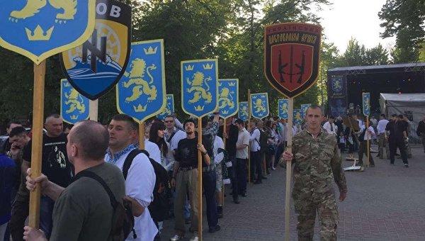 Марш в честь дивизии СС Галичина. Архивное фото