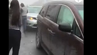 В Мексике более 50 авто попали в ДТП. Видео