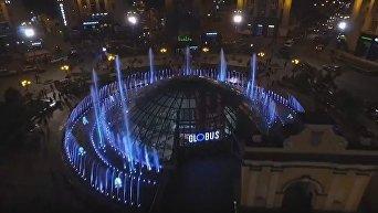 На Крещатике протестировали работу свето-музыкальных фонтанов