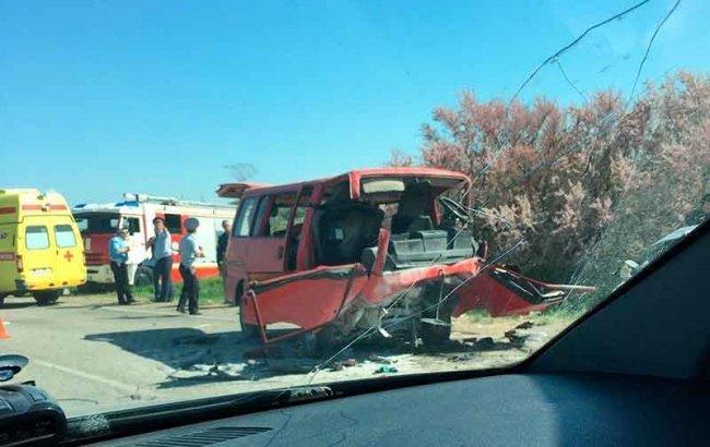 4 ребенка вреанимации после трагедии микроавтобуса вКрыму