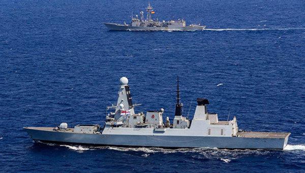 В Черное море вошла группа военных кораблей НАТО