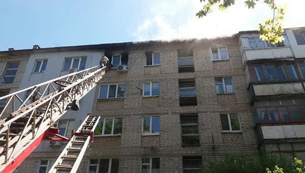 Пожар в харьковской высотке