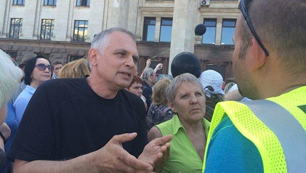 Участиники митинга, посвященного годовщине трагедии 2 мая в Одессе