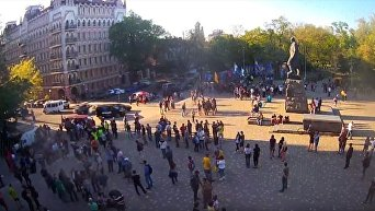 В Одессе националисты проводят марш, посвященный трагедии 2 мая