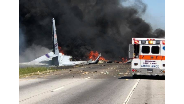 Крушение военно-транспортного самолета С-130