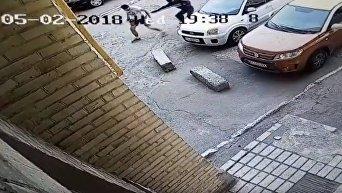 Нападение на ветерана АТО в Киеве. Видео