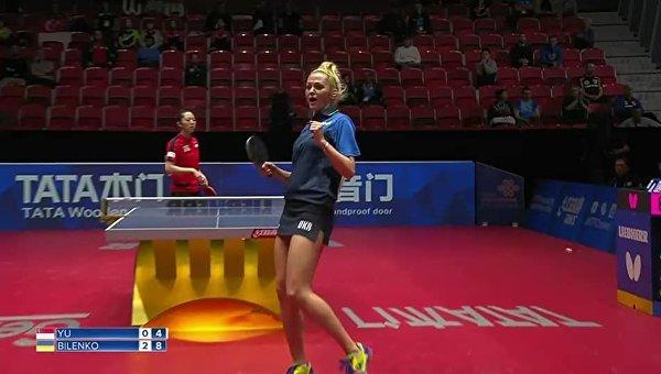 Игрок сборной Украины по настольному теннису Татьяна Биленко