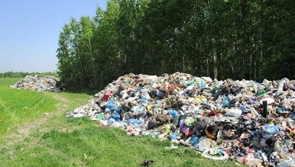 Львовский мусор, незаконно выброшенный в Житомирской области
