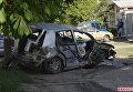 ДТП с пострадавшими в Житомире. Водитель влетел в бетонный забор и сбежал. Видео