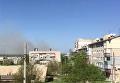 Дым на месте взрывов в Балаклее Харьковской области
