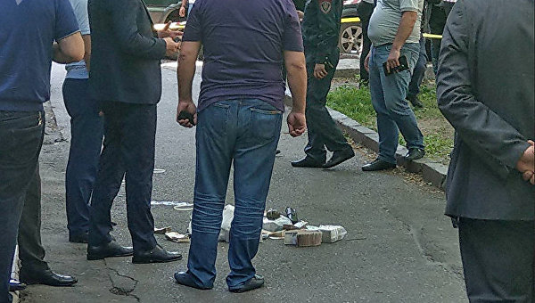 Место ограбления банка в Ереване