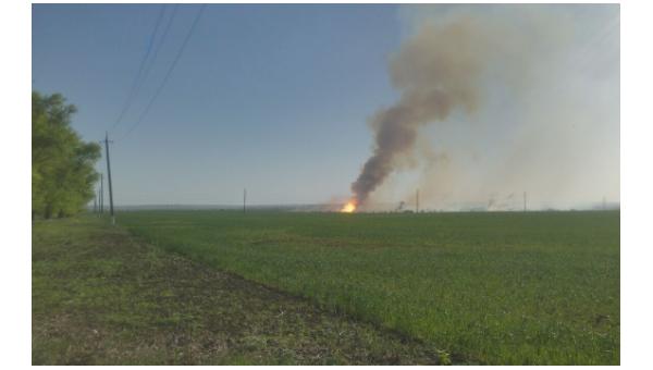 Пожар на складе боеприпасов в Балаклее Харьковской области