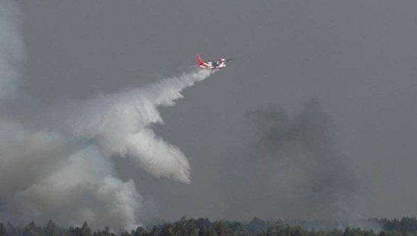 Авиация при тушении пожара