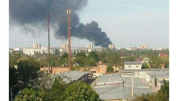 Пожар на заводе автошин