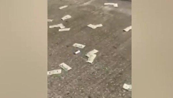 В США с неба посыпались доллары
