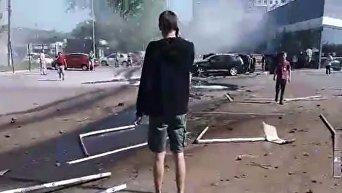 Видео с места кошмарной аварии в Днепре