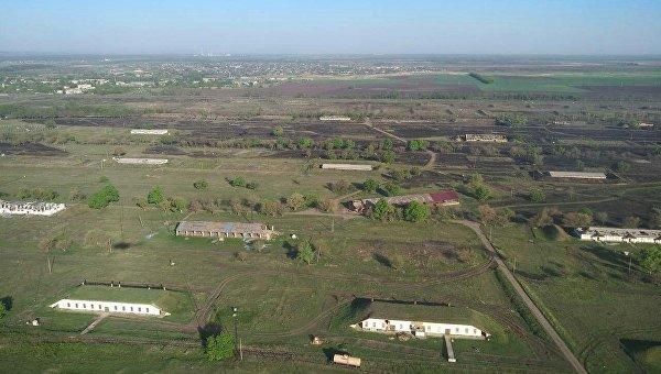 Склады боеприпасов в городе Балаклея Харьковской области