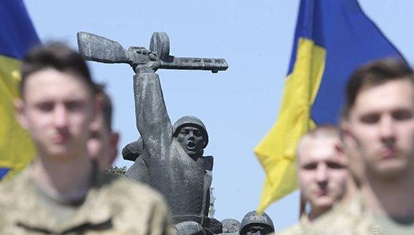 Флешмоб по случаю 73-й годовщины Победы над нацизмом во Второй мировой войне