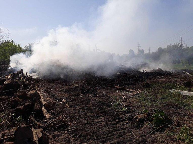 Ликвидация пожара на Виноградаре в Киеве