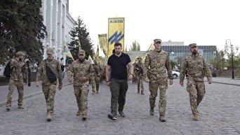 Марш Азова в Бердянске и Андрей Билецкий