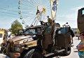 Военная техника Азова в Бердянске