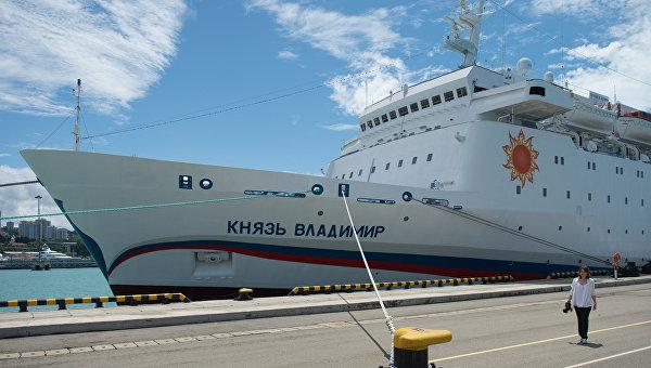 Первый пассажирский рейс круизного лайнера Князь Владимир в Сочи