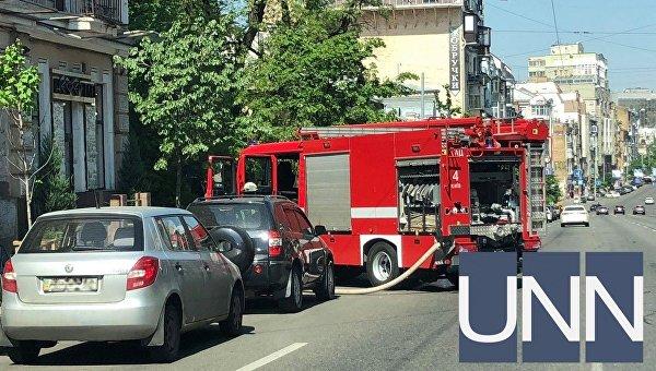 Пожар в киевском ресторане на улице Саксаганского