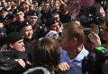 Алексей Навальный во время несанкционированной акции оппозиции на Пушкинской площади в Москве