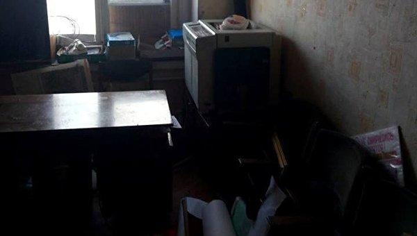 Погром в офисе организации Трудовой Харьковщина