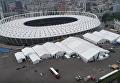Подготовку Олимпийского к финалу Лиги чемпионов сняли с воздуха. Видео