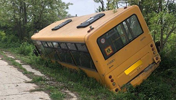 В Одесской области у школьного автобуса отказали тормоза