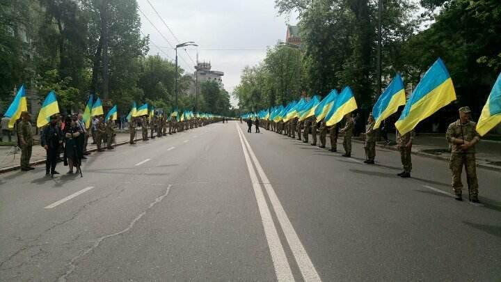 Полиция на акции Бессмертный полк в Киеве