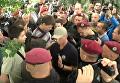 Полиция вступилась за Новинского: кадры разборок c противниками нардепа. Видео