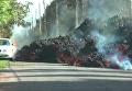 Выложено видео, как поток лавы съедает автомобиль на Гавайях. Видео