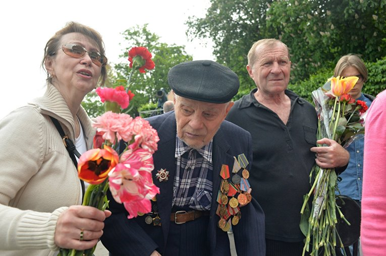 Ветераны на День победы в Киеве