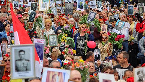 Шествие ко Дню Победы в Одессе 9 мая 2018 года