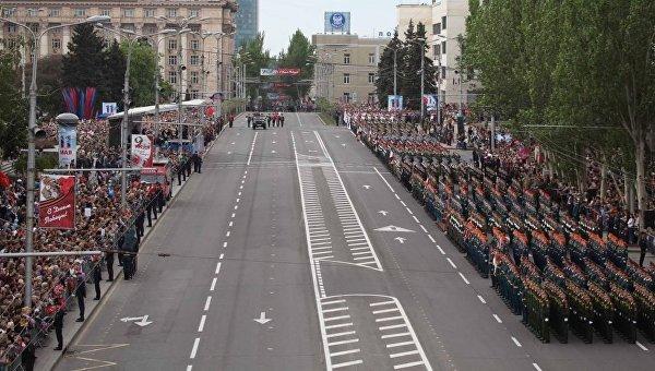 Парад в Донецке 9 мая 2018 года