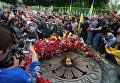 Участники акции Бессмертный полк в Киеве