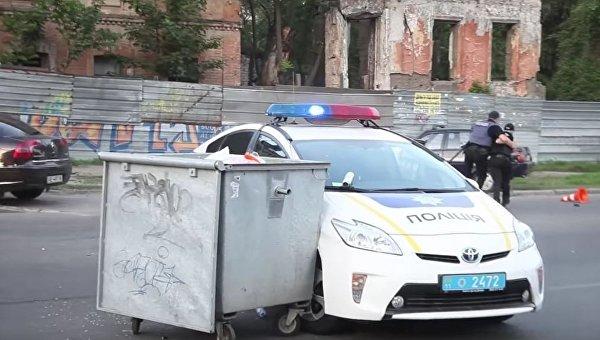 Атака ультрас на полицию в Днепре