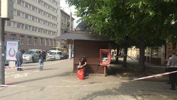 Взрыв в киоске во Львове