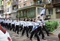 Парад под окнами одесского ветерана. Видео