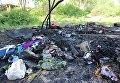 Во Львове неизвестные в масках сожгли лагерь ромов