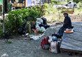 Центр Киева заполонили бездомные