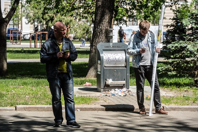 Мусорные баки на Подоле в Киеве