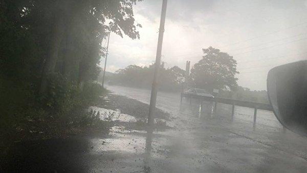 Буря в Закарпатской области