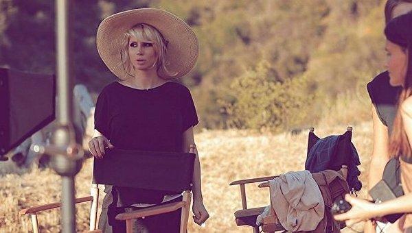 Светлана Лобода на съемках в Лос-Анджелесе
