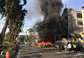 На месте взрыва в Индонезии
