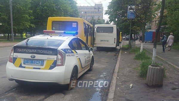 На месте ДТП в Киеве