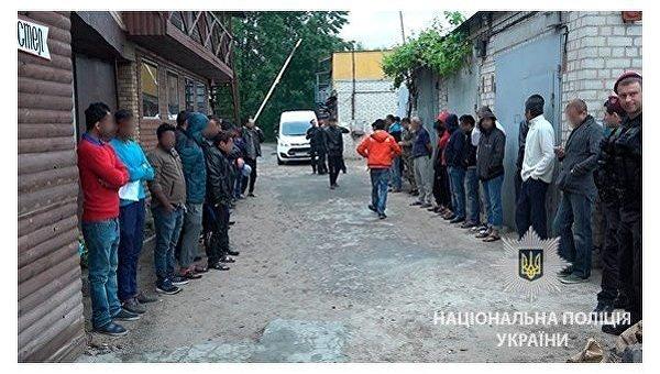 На месте задержания нелегалов в Киеве