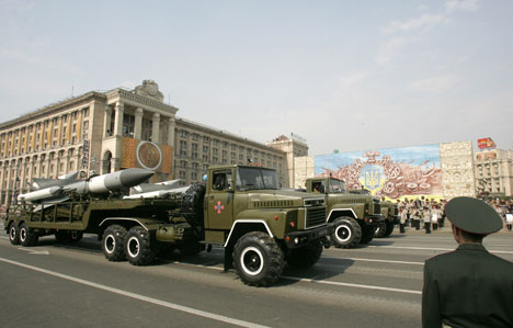 Военный парад в Киеве в День Независимости Украины.. Фото: © Пресс-служба президента Украины. Фото Михаила Маркива.
